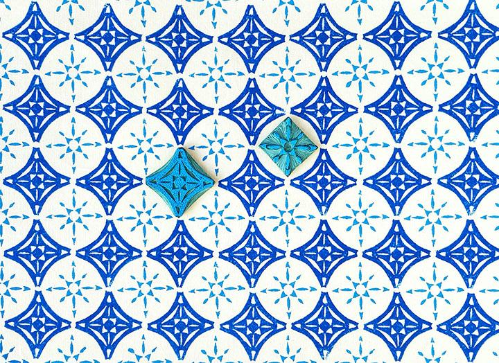 Stempeldruck - Azulejos @ Annamay - Werkstatt